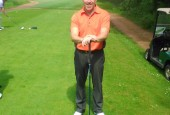 Brian Sewell Shortly after his hole in one at Notts