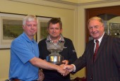 Mark Booth & Simon Clare picture with Lindrick Captain Roger Ellis